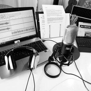Momentaufnahme aus der Podcast Produktion