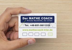 4 plus 1 Nachhilfekarte für Mathematik