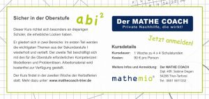 Flyer Grundlagenkurs Mathe